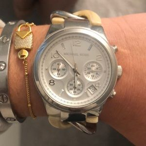 Michael Kors braided watch- great condition